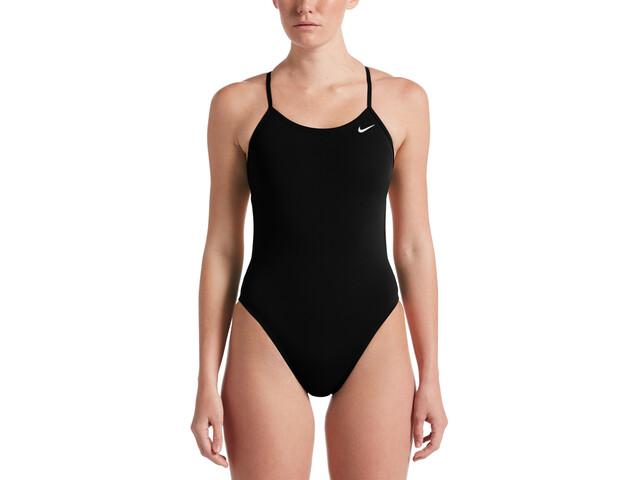 Nike Swim Hydrastrong Solids CutOut One Piece Bañador Mujer, negro